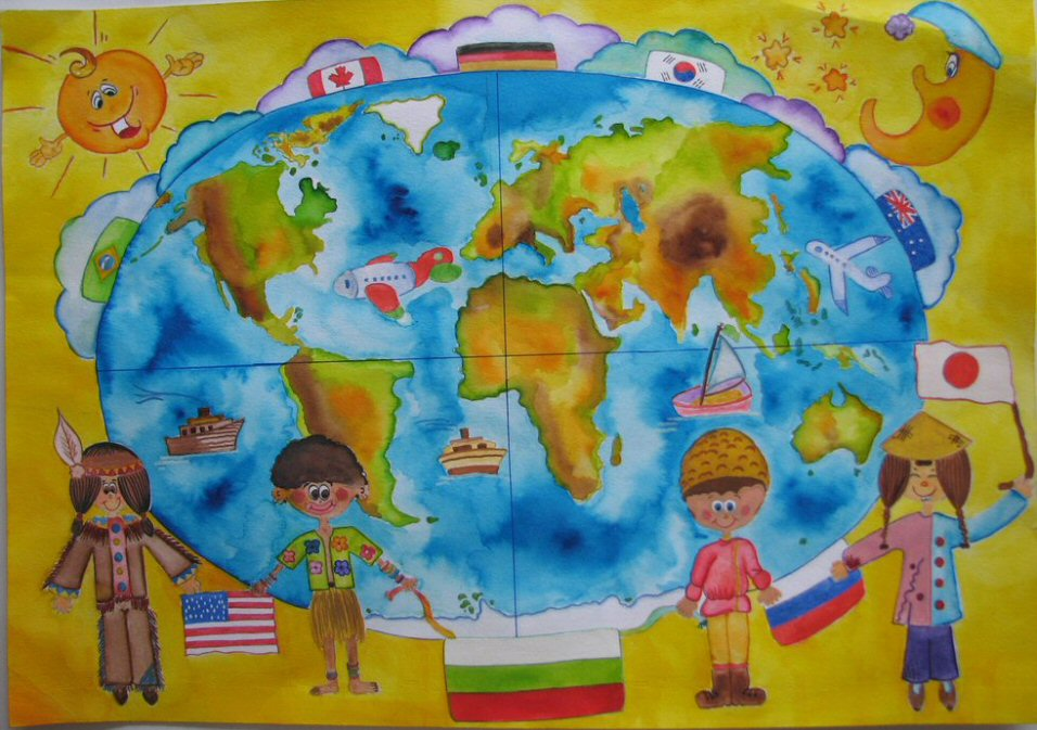 The world peace in childrens eyes children map their world the world peace in childrens eyes gumiabroncs Gallery