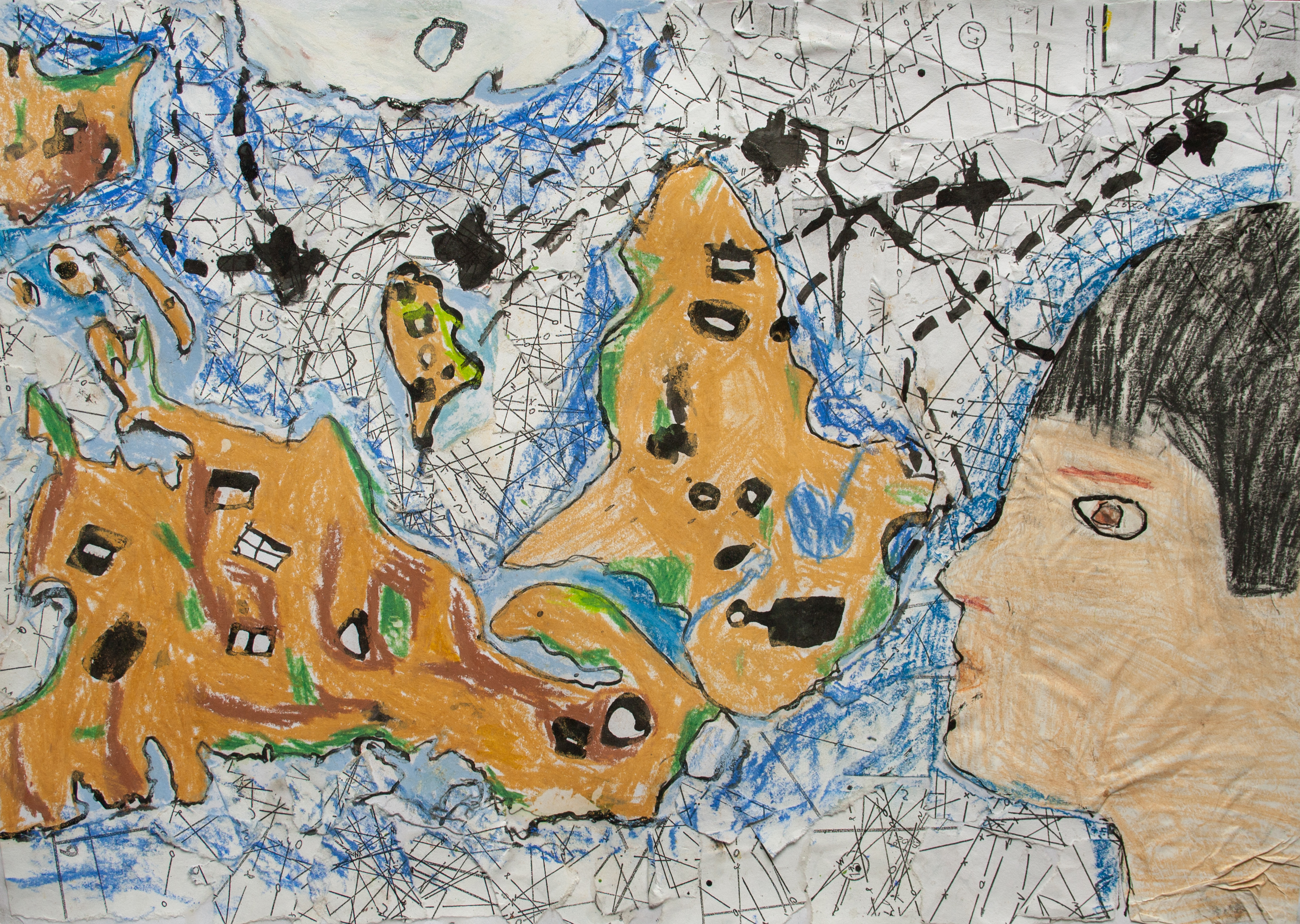 In reverse children map their world in reverse childrens map of the world gumiabroncs Gallery