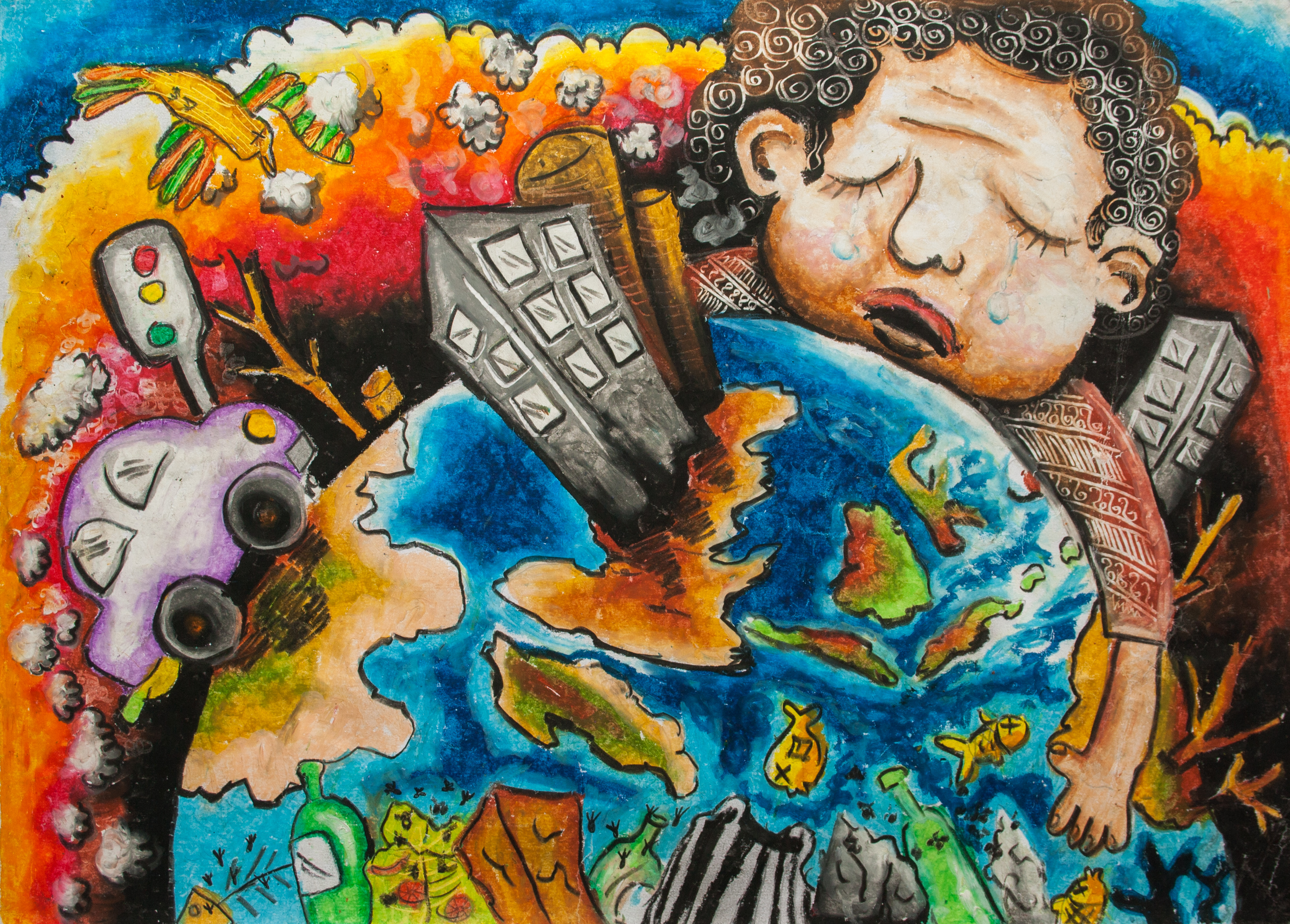 Our Earth and pollutions | Children Map Their World