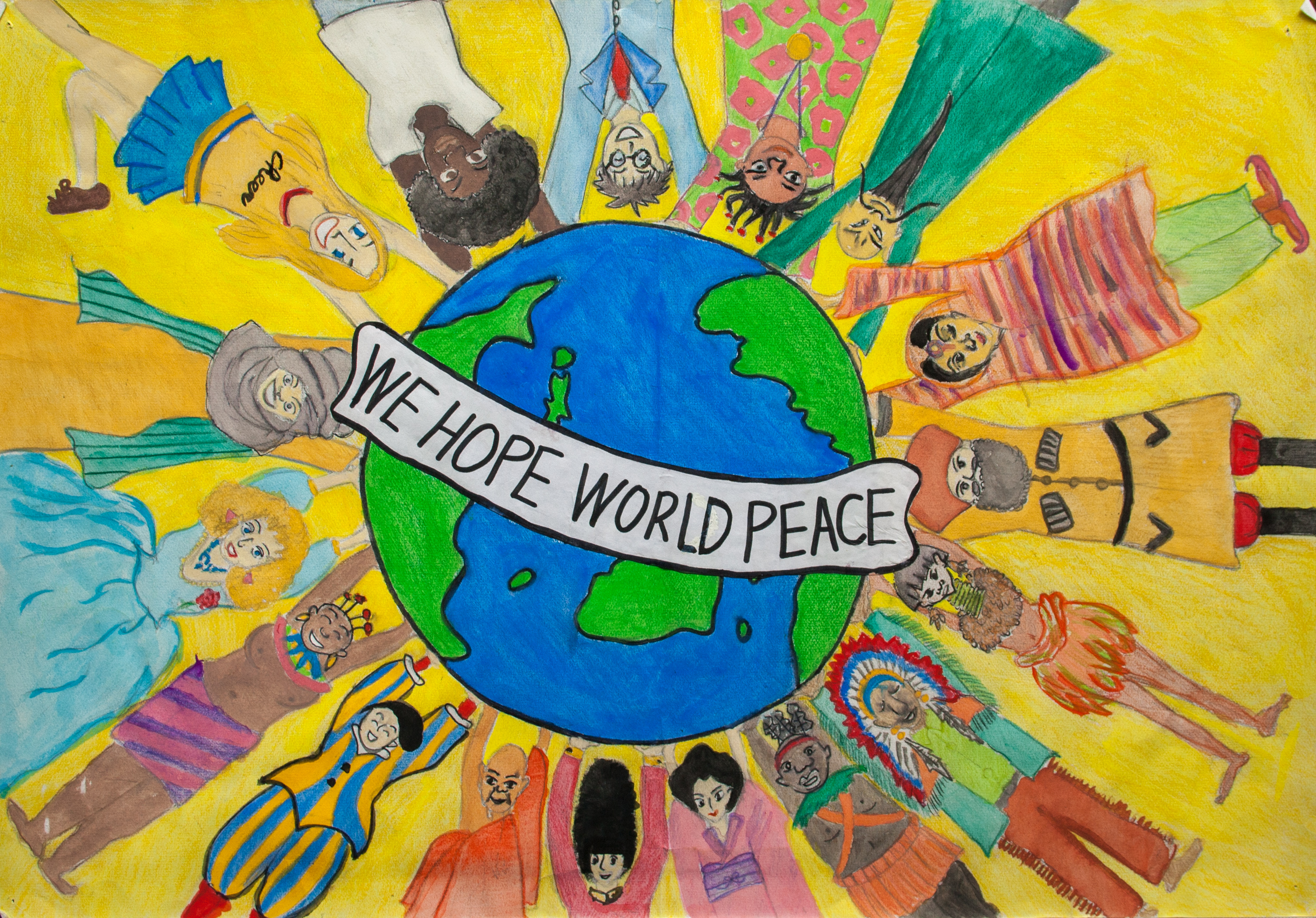 We hope world peace children map their world we hope world peace publicscrutiny Image collections