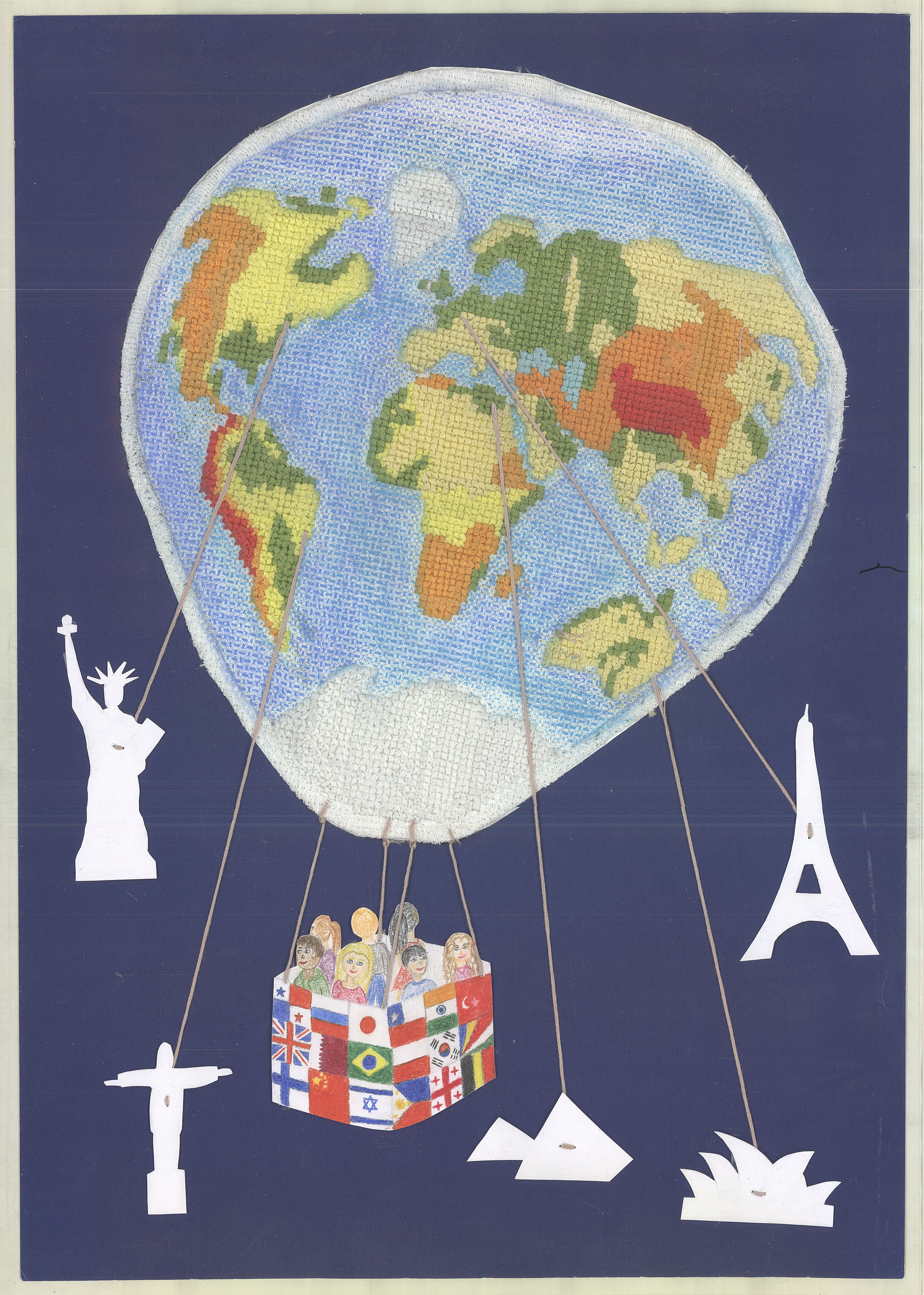 Children's map of the world